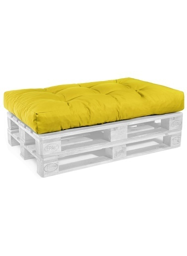 Dekoro Sarı Dış Mekan Palet Minderi Set 1 Sarı